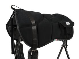 Western style bareback pad black