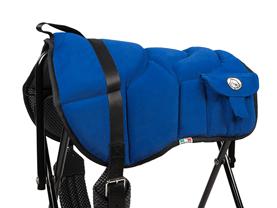 Western style bareback pad blue
