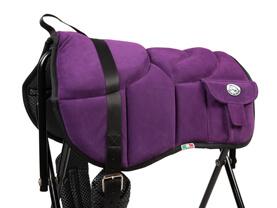 Western style bareback pad purple